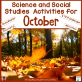 October Science and Social Studies Printables
