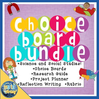 Science and Social Studies Project Choice Board Packet Bundle
