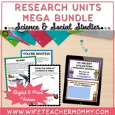 Science and Social Studies Research Units & Projects Bundle