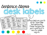 Science and Social Studies Sentence Stems