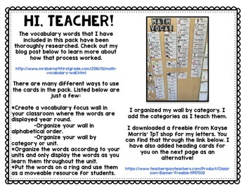 Science and Social Studies Vocabulary Word Wall Bundle