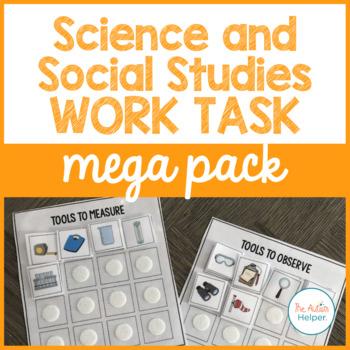 Science and Social Studies Work Task Mega Pack