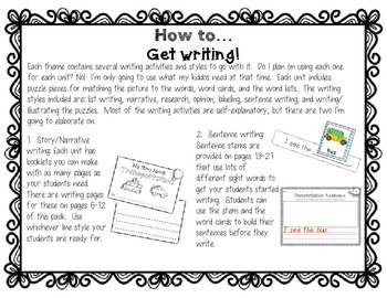 Science and Social Studies Writing Centers