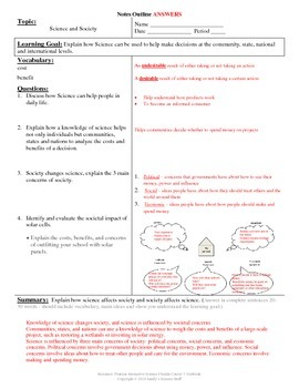 Science and Society Cornell Notes #9