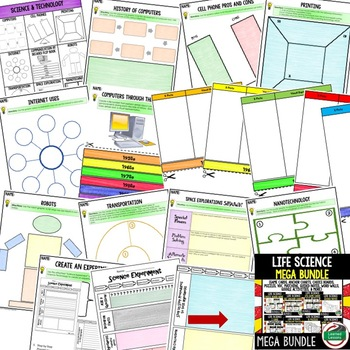 Science and Technology Activities, Choice Board, Print & Digital, Google