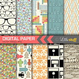 Science and Technology Digital Papers, Geek Chic Digital Paper