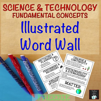 Science and Technology Illustrated Word Wall FREEBIE (Onta