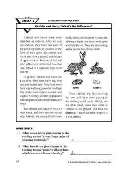 Science and Technology Words-Rabbits and Hares: What's the