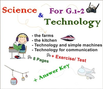 Science and Technology Worksheet For G.1-2