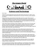Science and Technology during Islamic Empire Article and questions