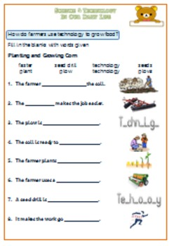 Technology in Our Daily Life Worksheet For G.1-3