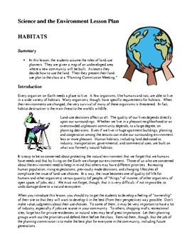 Science and the Environment Lesson Plans - Habitats