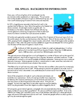 Science and the Environment Lesson Plans - Oil Spills