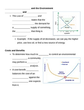 Science and the Environment Notes Outline Lesson Plan