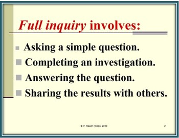Science as Inquiry: Step-by-Step Through the Investigative Process