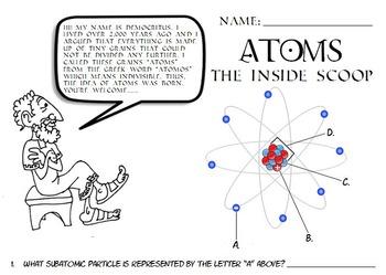 science atoms atomic structure parts of an atom worksheet qr codes jr high. Black Bedroom Furniture Sets. Home Design Ideas