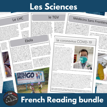 Science bundle - readings for intermediate/advanced French learners