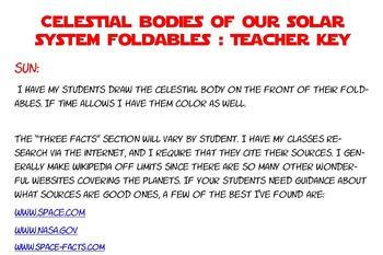 Science celestial bodies solar system interactive ntbk 6 foldabes TX TEKS 6.11A