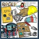 Science clip art: Geology- Rocks clip art set -Color and B&W-  52 items!