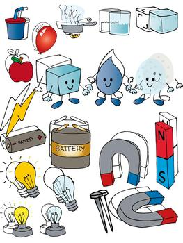 Science clip art set