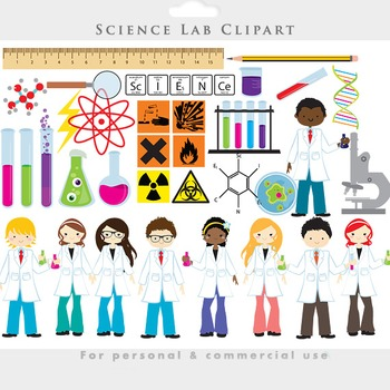 Science clipart - chemistry lab clip art test tubes scientists experiments