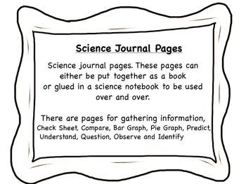 Science data sheets and note book pages. Science Journal.
