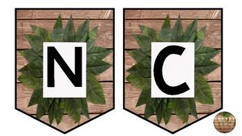 Science display wall bunting - natural leaf