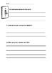 Science experiment worksheet