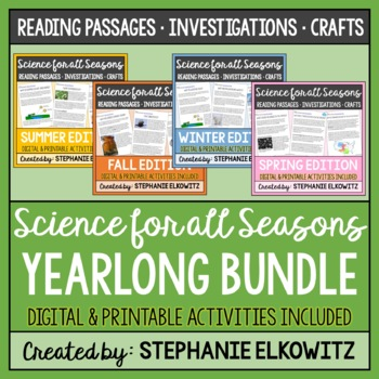 Science Articles and Activities for all Seasons Bundle