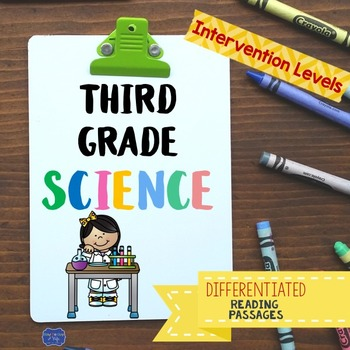 Third Grade Science Reading Passages & Questions for Strug