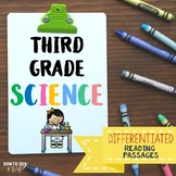 Science Differentiated Reading Passages Nonfiction Texts for Third Grade Science