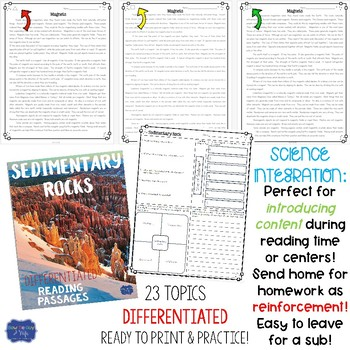 Science Differentiated Reading Passages Nonfiction Texts bundle