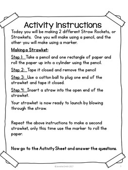 Science in A Bag:  Build a Strawket