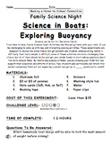 Science in Boats: Exploring Buoyancy Family Science Experiment
