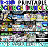 First Grade Science GROWING Bundle - Digital Stations using QR Codes and more!
