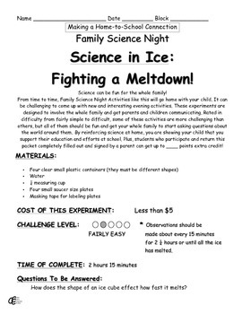 Science in Ice: Fighting a Meltdown Family Science Experiment