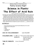 Science in Plants Exploring Acid Rain Family Home Science Project