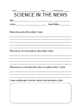 Science in the News Template