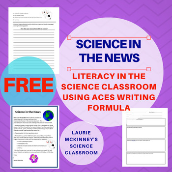 Science in the News  with ACES Writing Formula - Literacy in the Classroom