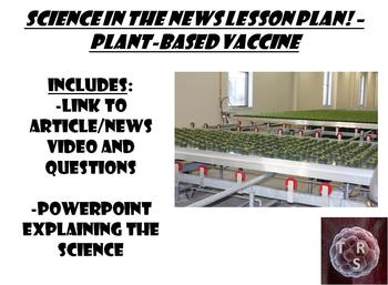 Science in the news lesson plan – Plant-based vaccines
