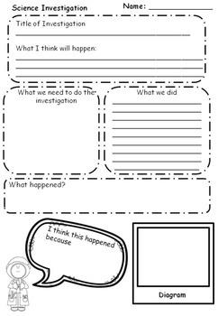 Science investigation & Experimentation Sheet