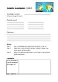 Science investigation worksheet- Oobleck experiment