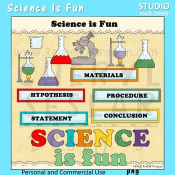 Science is Fun color clip art and line art C Seslar