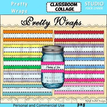 Pretty Labels or Wraps color clip art C Seslar