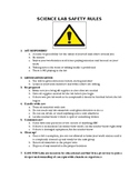 Science lab safety rules contract