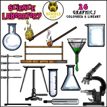 science laboratory apparatus clipart by nimble art tpt