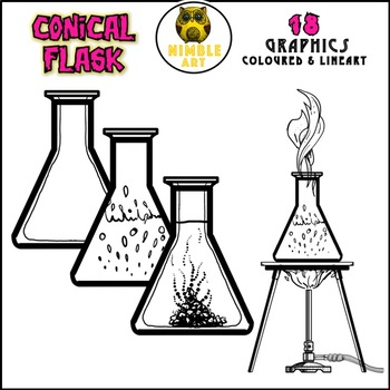 Conical Flask - Science Laboratory Clipart