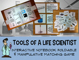 Science lab tools interactive notebook foldable manipulative middle school
