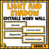 Light and Shadow Editable Word Wall Words