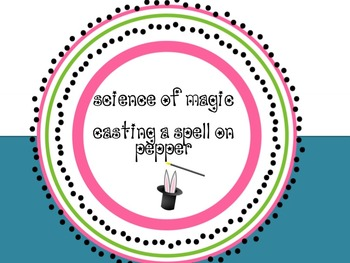 Science of Magic :  Using the Nature of Science to Investigate a Spell
